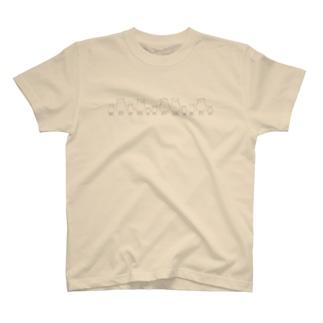 羊の大家族-グレー- T-shirts