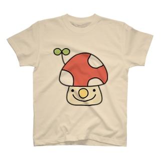 芽が出たきのこ T-shirts