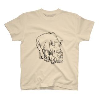 シロサイ T-shirts