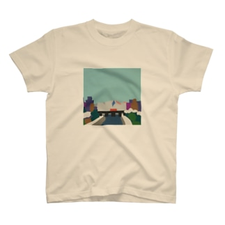 鴨  川 (朝) T-shirts