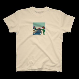 7センチの鴨  川 (朝) T-shirts