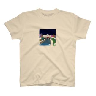 鴨  川 (夜) T-shirts