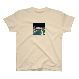 7センチの鴨  川 (夜) T-shirts