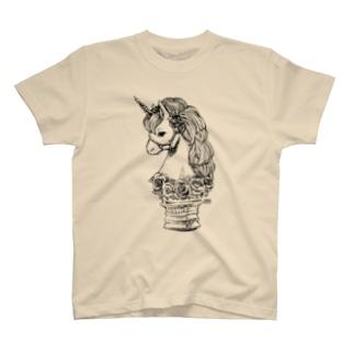 薔薇のユニコーン T-shirts