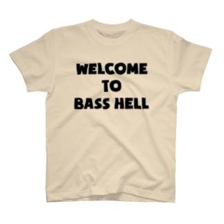 曖昧中毒の曖丁<低音地獄へようこそ>黒ロゴ T-shirts
