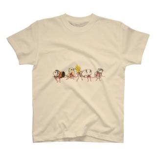 リボンとモルモット Tシャツ