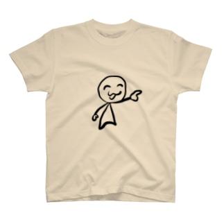 笑顔で指さしをする人 T-shirts