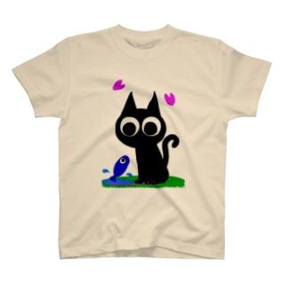 魚の夢CH〜ネコトサカナ〜 Tシャツ