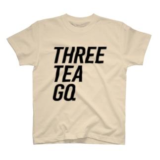 THREE TEA GO. NEW T-shirts