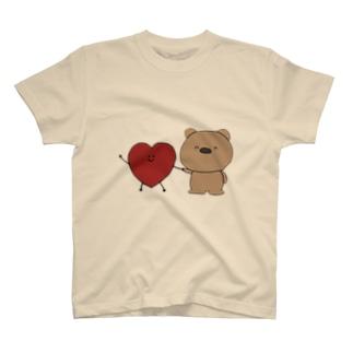 はーとちゃんとくまくん(heazu) T-shirts
