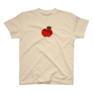 りんごのアップリケ Tシャツ