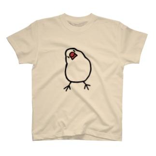 かしげる文鳥 T-shirts