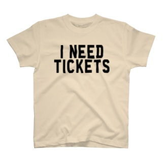 I NEED TICKETS - BLACK LOGO T-shirts