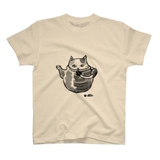 ねこふく土瓶 T-shirts