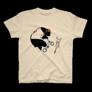 スポーツする動物たち のBMX T-shirts