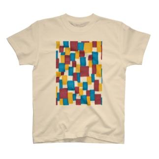 しかく_ブロック T-shirts