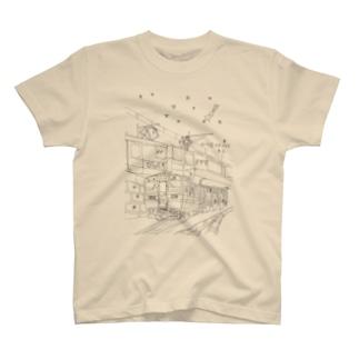 夜に走る2500系 T-shirts