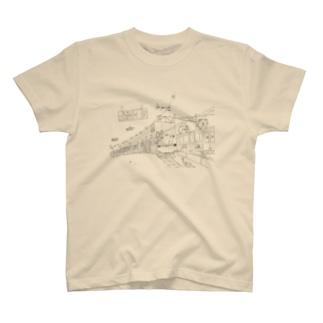 田町くわ(タテ) T-shirts