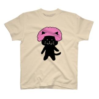 アフロくろねこ T-Shirt