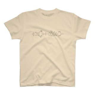 ハケイ - wave / white T-shirts