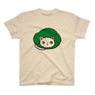 maruneko-green- T-shirts