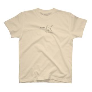 Liquid Cat(黒) T-shirts