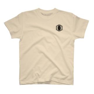狭間商会ロゴB T-shirts