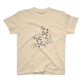 トランプのうさぎさん(クローバー) T-shirts