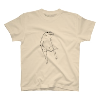 愛読家なカエル(モノクロ) T-shirts