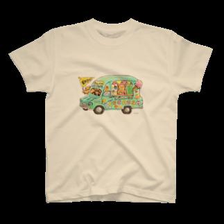 めろんぽっぷのお店だよのKU-MA アイスクリーム号 T-shirts