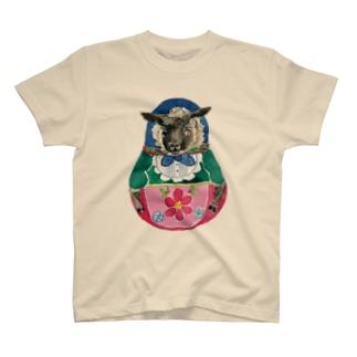 ひつじマトリョーシカ T-shirts