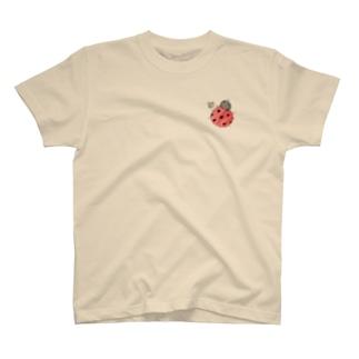 ★いろえんぴつ★のワンポイント☆てんとうむし T-shirts