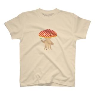 ドット 赤きのくらげ 草あげる T-shirts