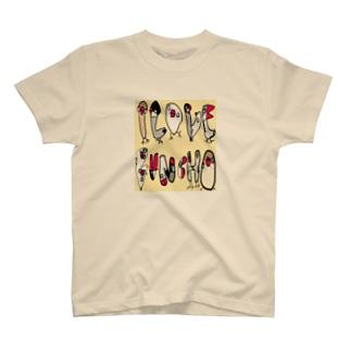 I LOVE 文鳥 T-shirts