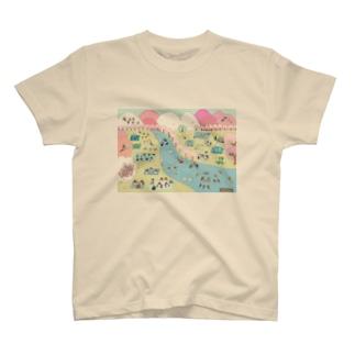 鳥さんたちのお花見 T-shirts