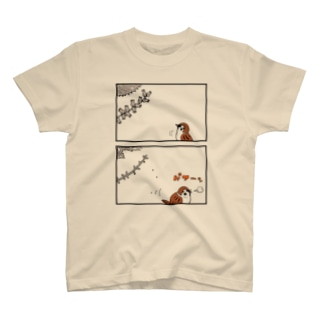 シソの実×スズメさん T-shirts