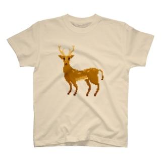 ドット 鹿 T-shirts