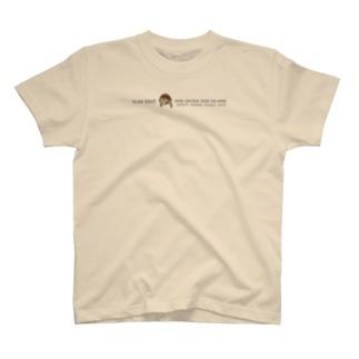 しまのなかまfromIRIOMOTEのしまのなかまSLOW ヤエヤマセマルハコガメ(ブラウン) T-shirts