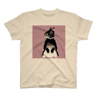ドット うさぎ T-shirts