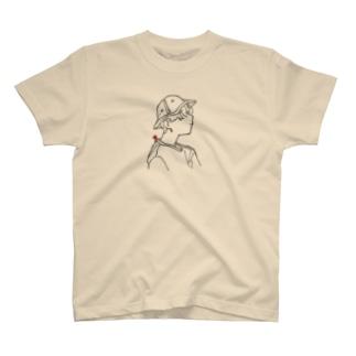ハットくん黒 T-shirts