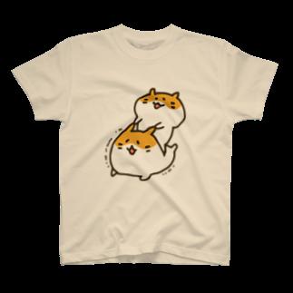 LINEスタンプ販売中ぱんのむにむにハムスター(カラー) T-shirts