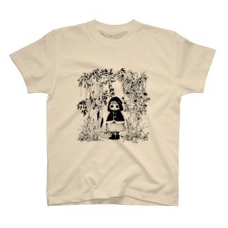 赤ずきん (黒) T-shirts