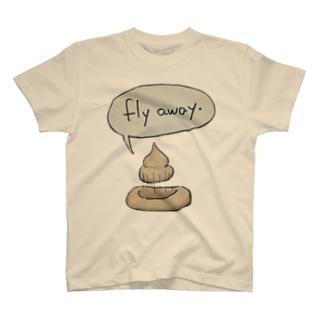 うんこフライアウェイ T-shirts
