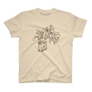 ひとふでのカビ T-shirts