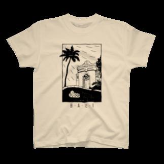 LinggamJPのB-A-L-I (black) T-shirts