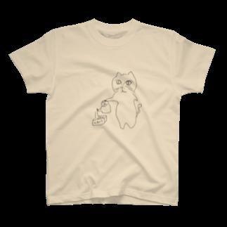 うまみのやきそばをつくるねこ T-shirts