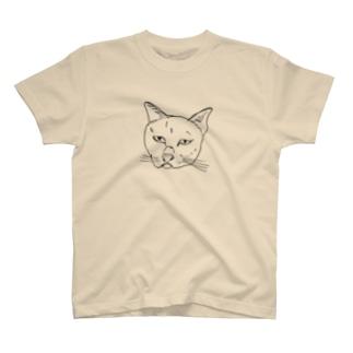 かわいいねこ(透過黒線) T-shirts