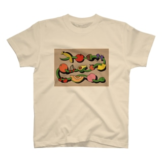 A SNAKE AND FRUITS T-shirts