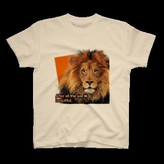 キャッツハンド:suzuriショップのやっぱりライオンはきれい! T-shirts