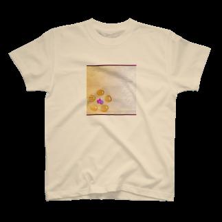 hitomin311のginkgo sugar flower T-shirts